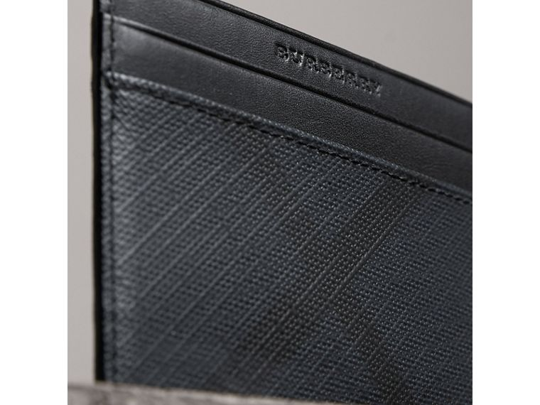 London Check Card Case in Navy/black - Men | Burberry Canada - cell image 1