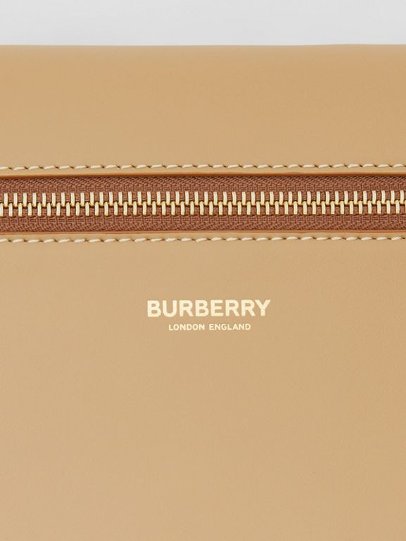 Leather Portrait Pouch in Honey - Men | Burberry - cell image 1