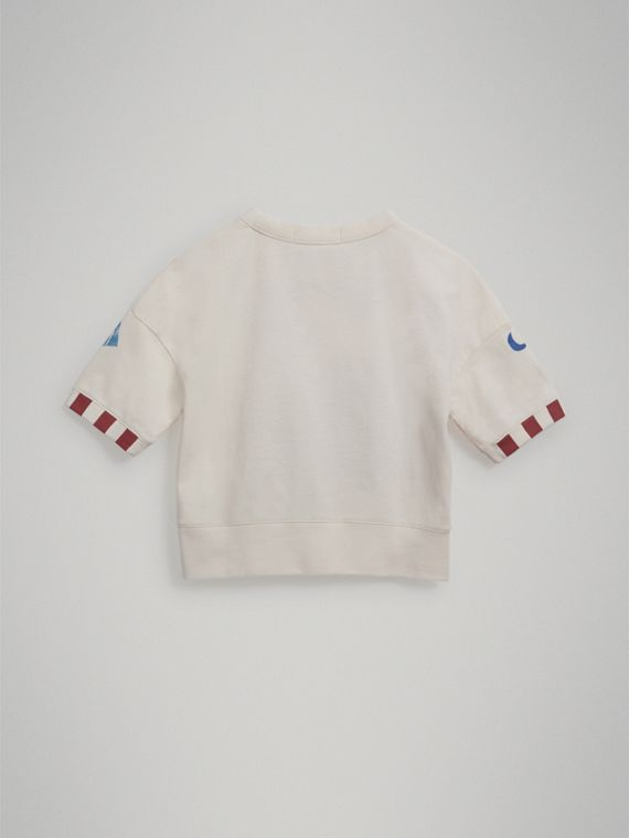 Ice-cream Motif Cotton T-shirt in Chalk White - Girl | Burberry - cell image 3
