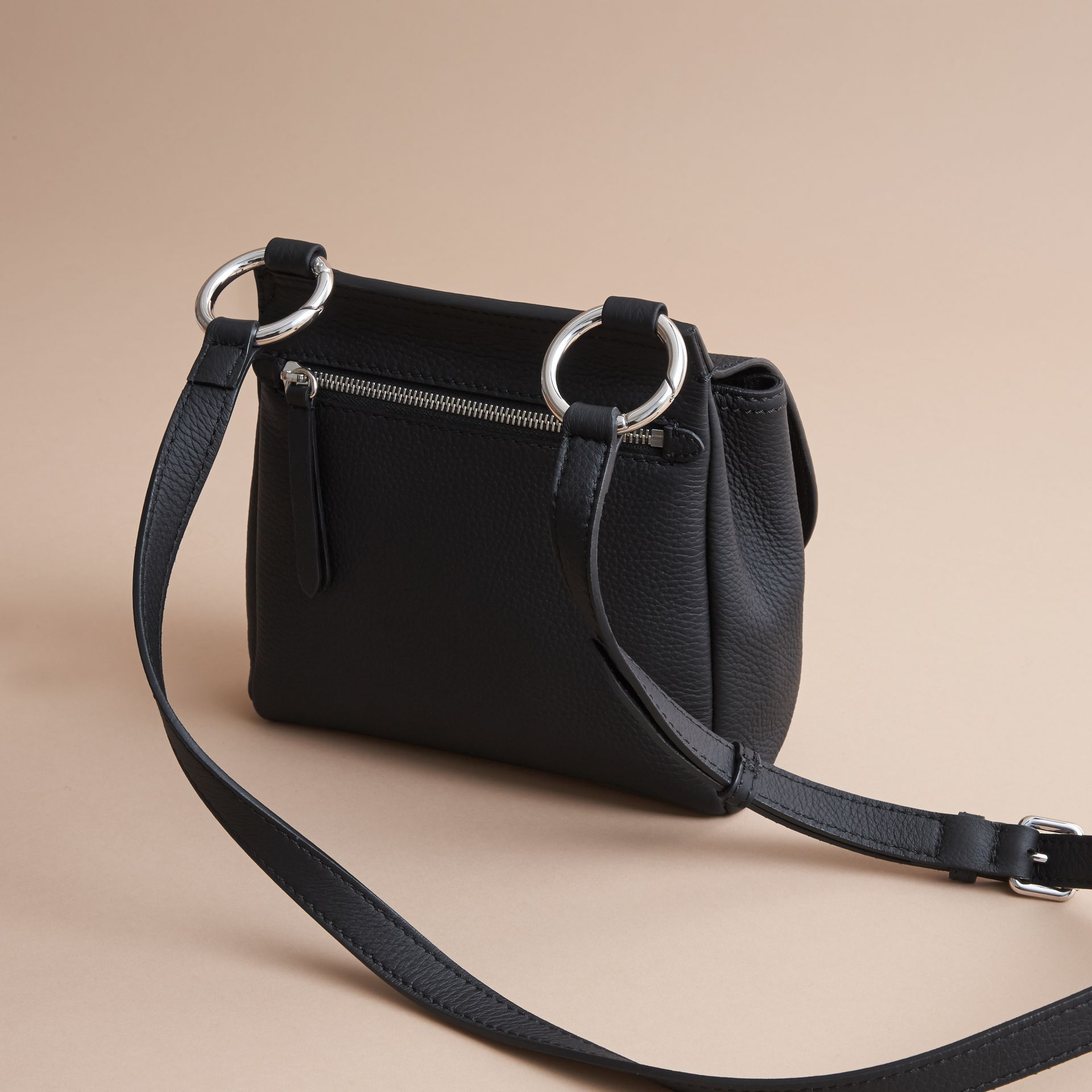 The Bridle Crossbody Bag in Deerskin in Black - Women | Burberry - gallery image 4