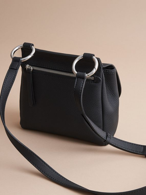The Bridle Crossbody Bag in Deerskin in Black - Women | Burberry Hong Kong - cell image 3