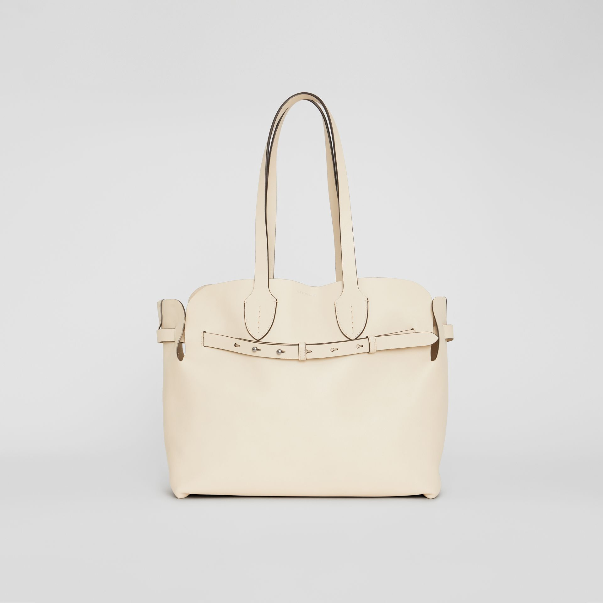 The Medium Soft Leather Belt Bag in Limestone - Women | Burberry - gallery image 0