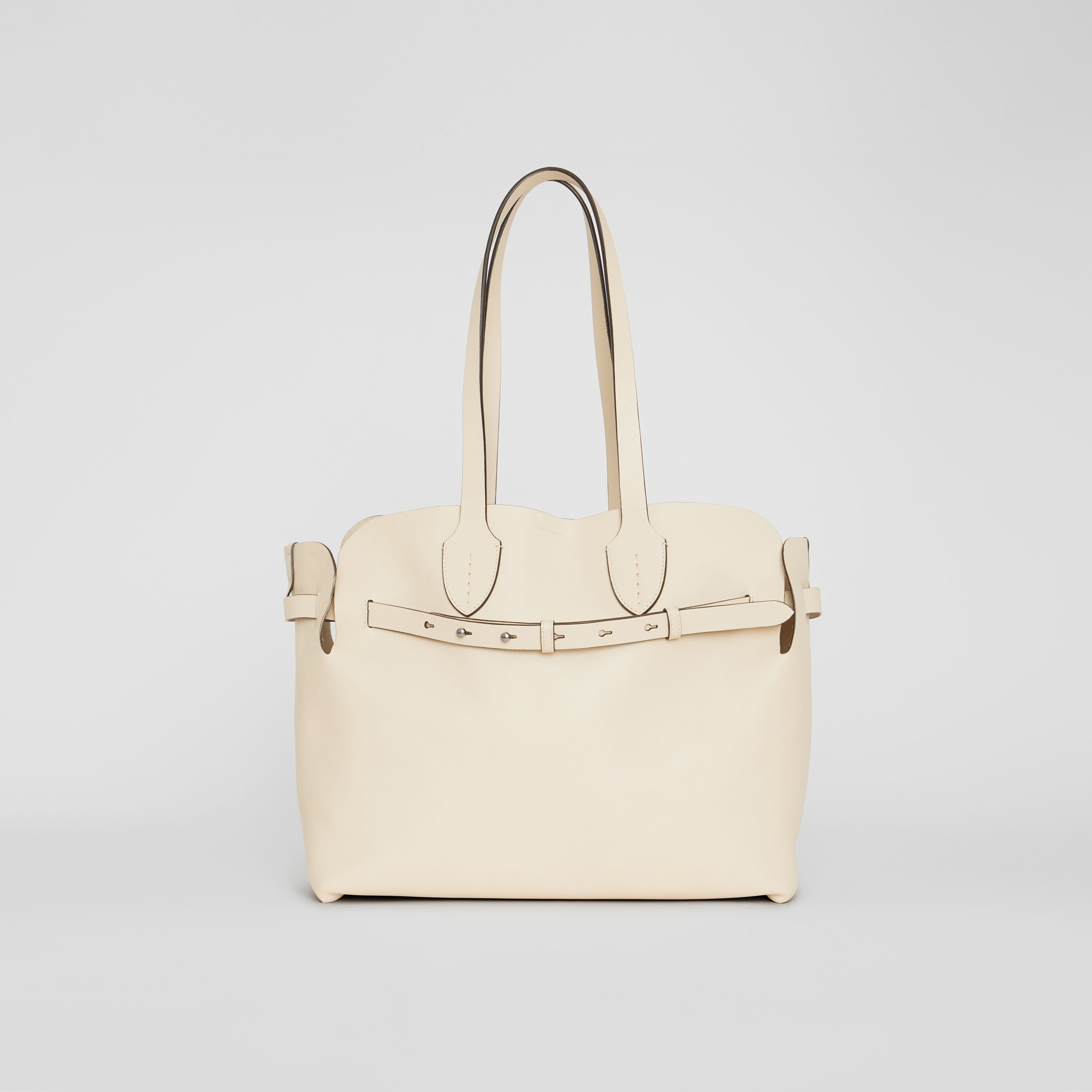 The Medium Soft Leather Belt Bag in Limestone - Women | Burberry - 1