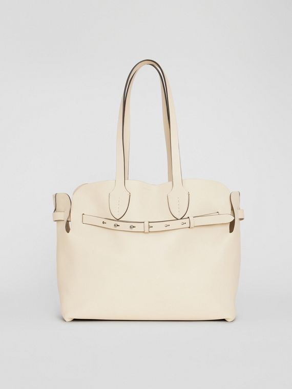The Medium Soft Leather Belt Bag in Limestone