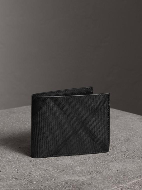 Faltbare Brieftasche in London Check (Anthrazit/schwarz)