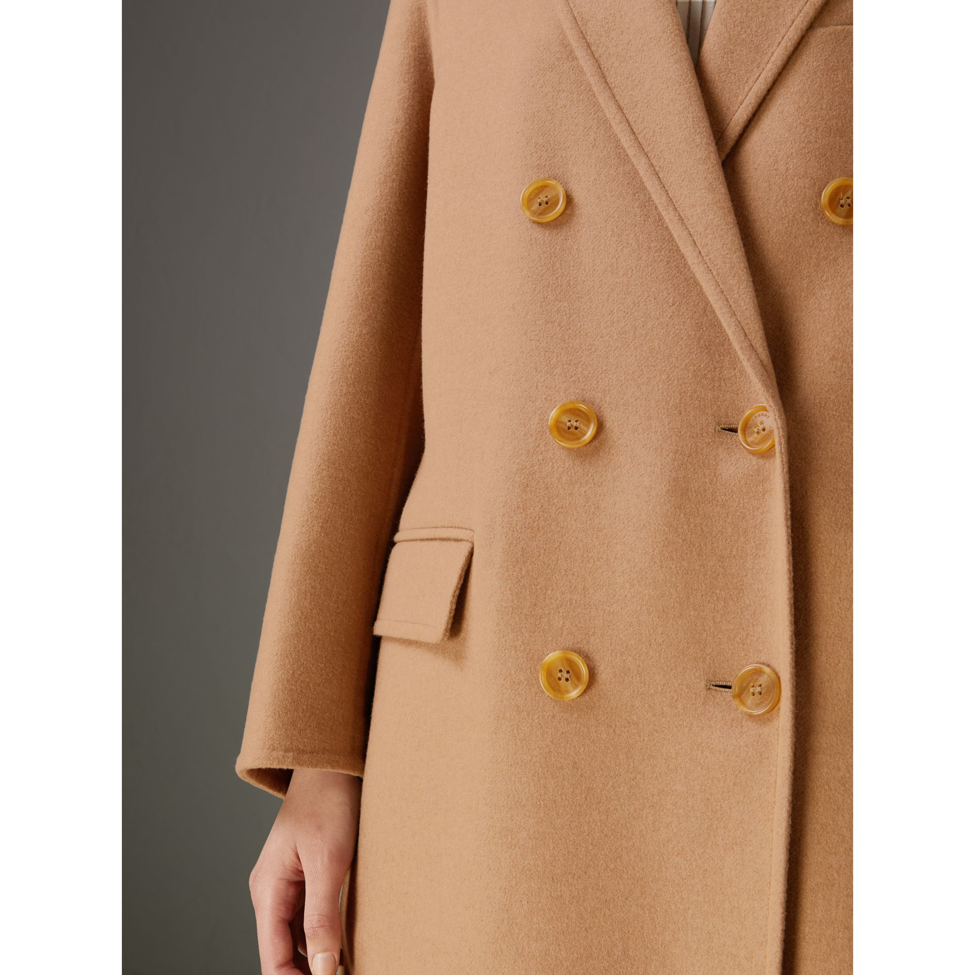 Double Camel Hair Tailored Coat - Women | Burberry Singapore - gallery image 1