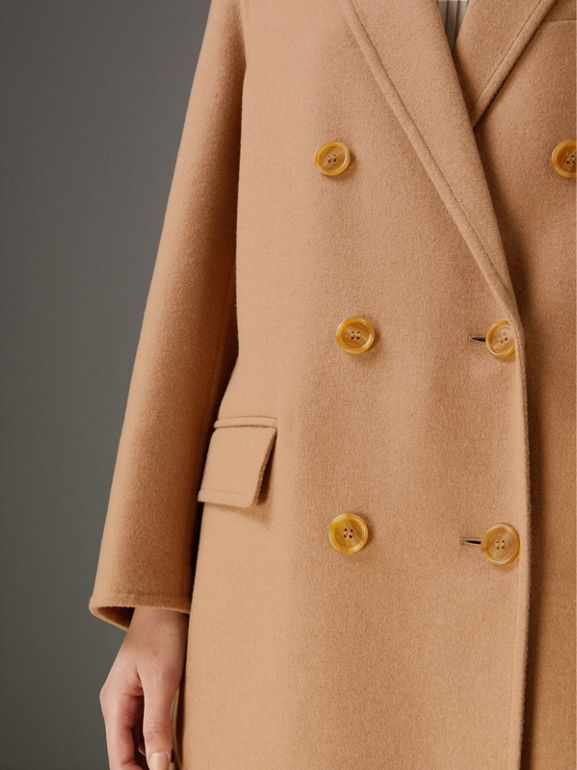 Double Camel Hair Tailored Coat - Women | Burberry United Kingdom - cell image 1