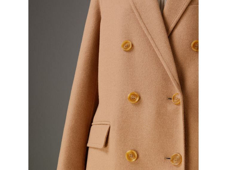 Double Camel Hair Tailored Coat - Women | Burberry Singapore - cell image 1