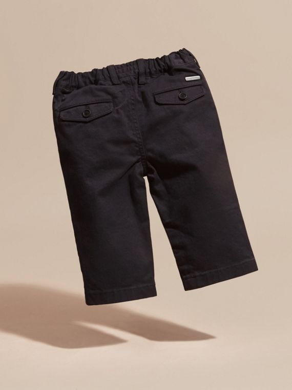 Navy Chino in twill di cotone stretch - cell image 3