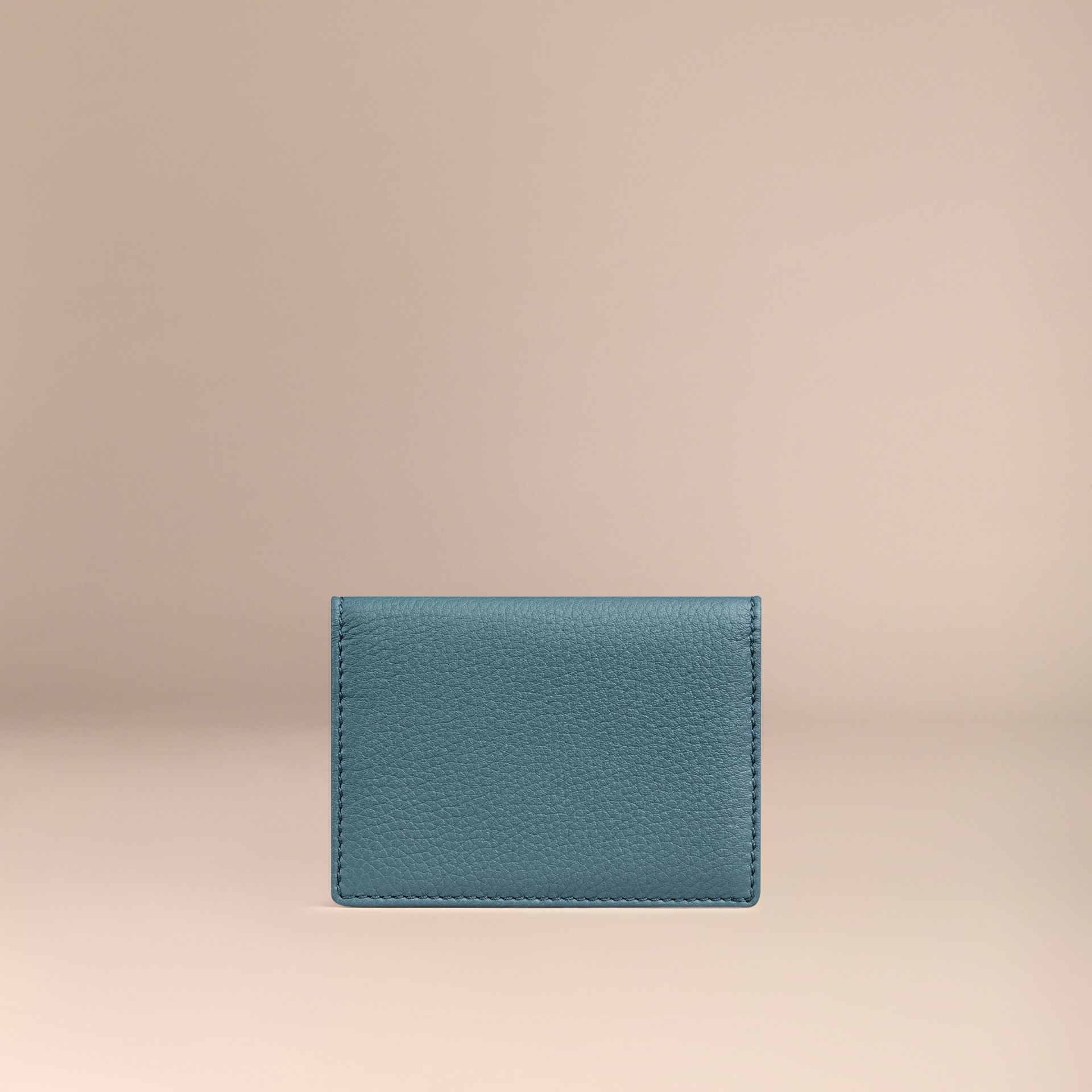 Dusty teal Grainy Leather Card Case Dusty Teal - gallery image 4