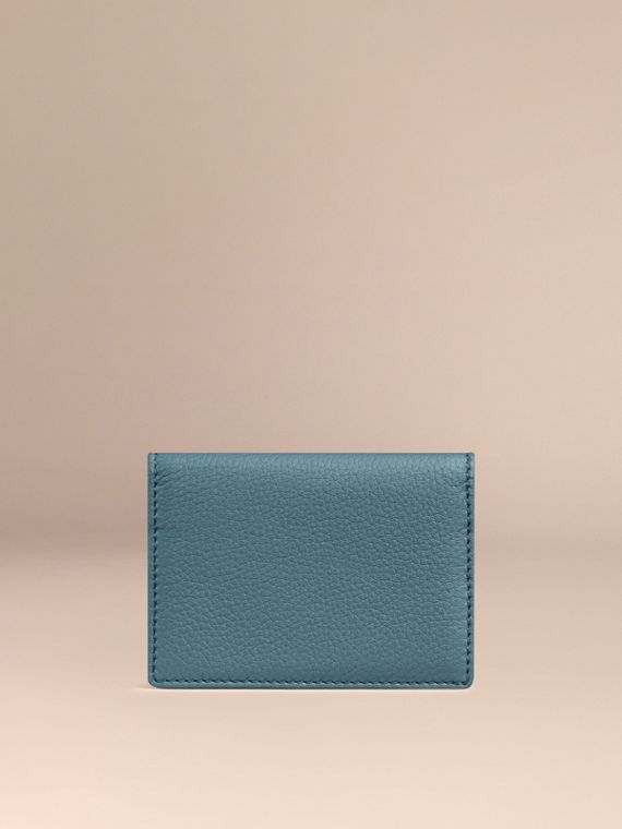 Dusty teal Grainy Leather Card Case Dusty Teal - cell image 3