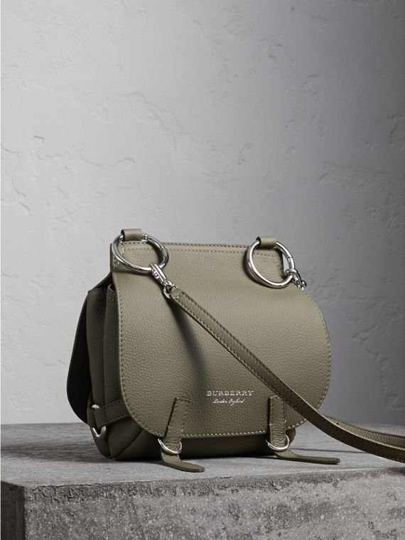 The Bridle Bag in Deerskin in Slate Green - Women | Burberry
