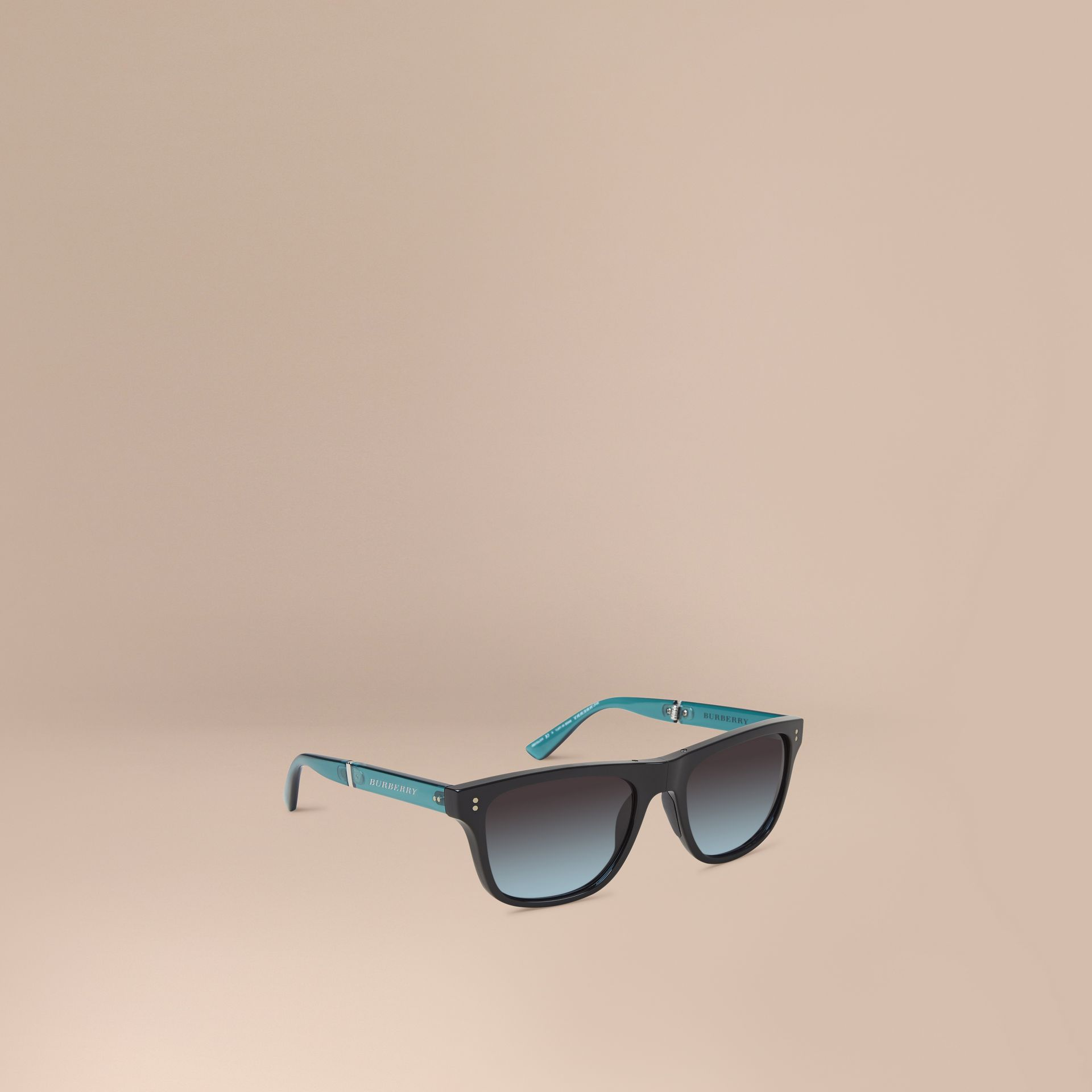 Foldable Rectangular Frame Sunglasses - Men | Burberry - gallery image 1