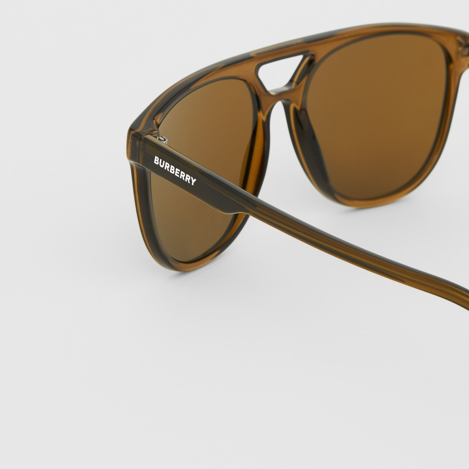 Navigator Sunglasses in Olive Green | Burberry - gallery image 1