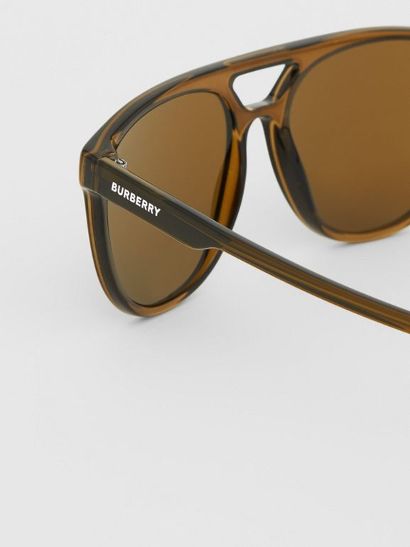 Navigator Sunglasses in Olive Green | Burberry - cell image 1