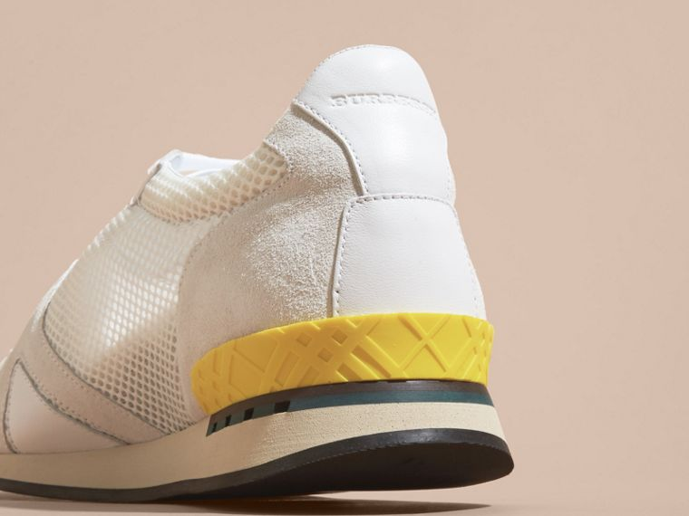 White The Field Sneaker in Suede and Mesh White - cell image 1