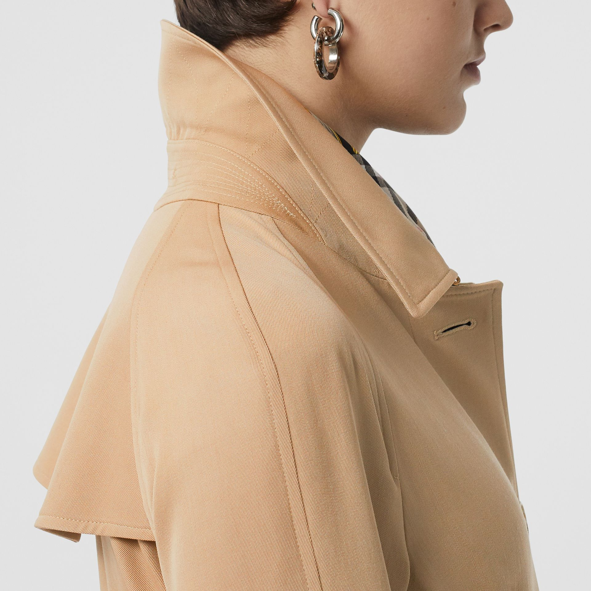 Wool Gabardine Trench Coat in Honey - Women | Burberry - gallery image 6