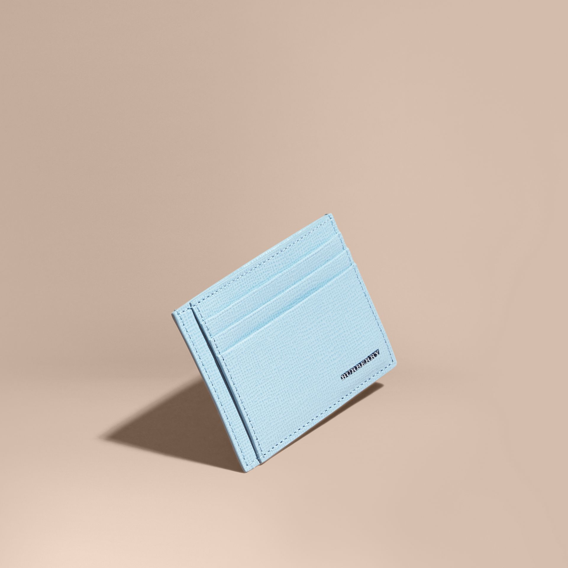 London Leather Card Case Powder Blue - gallery image 1