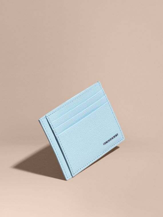 London Leather Card Case Powder Blue