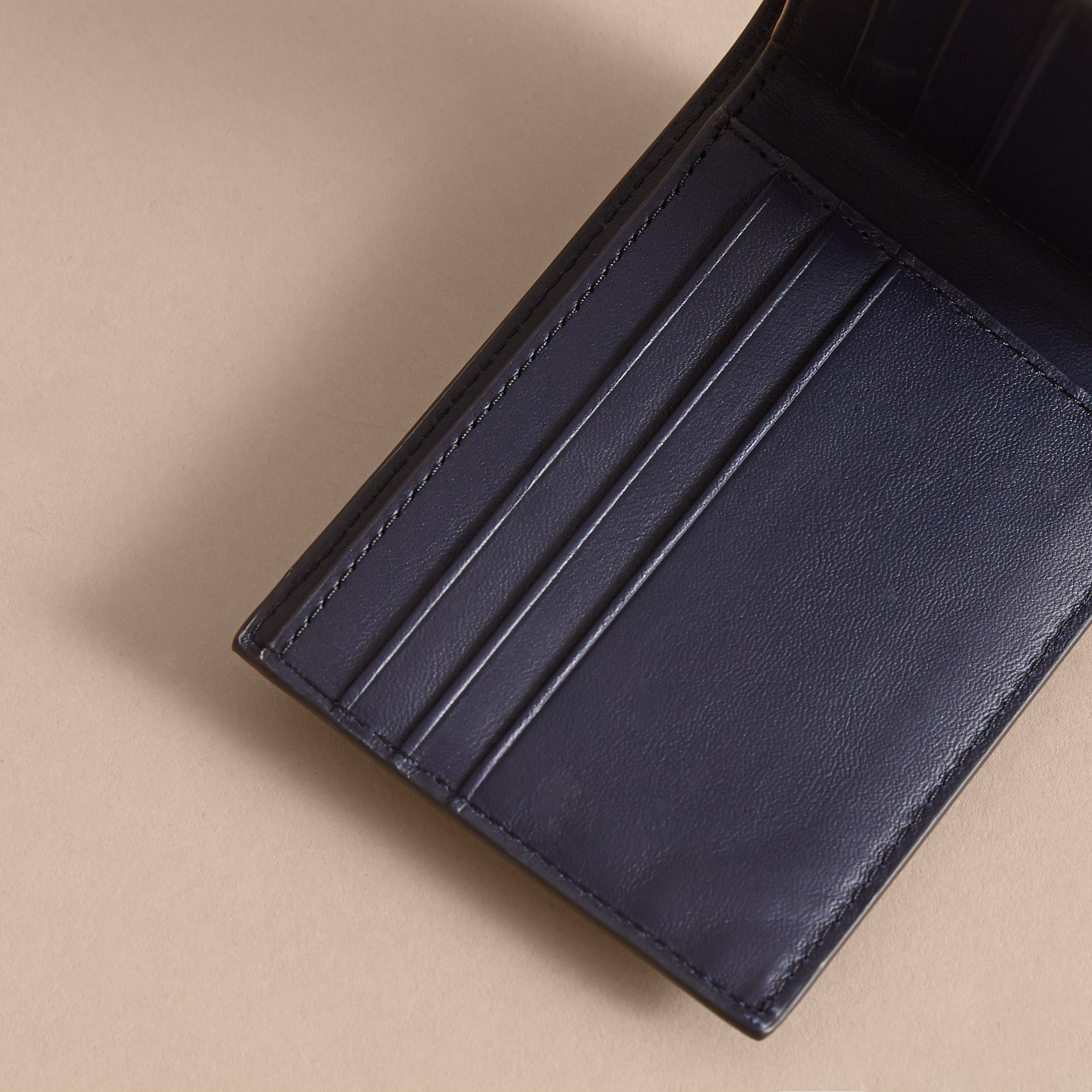 London Check Bifold Wallet in Bright Lapis - Men | Burberry - gallery image 5