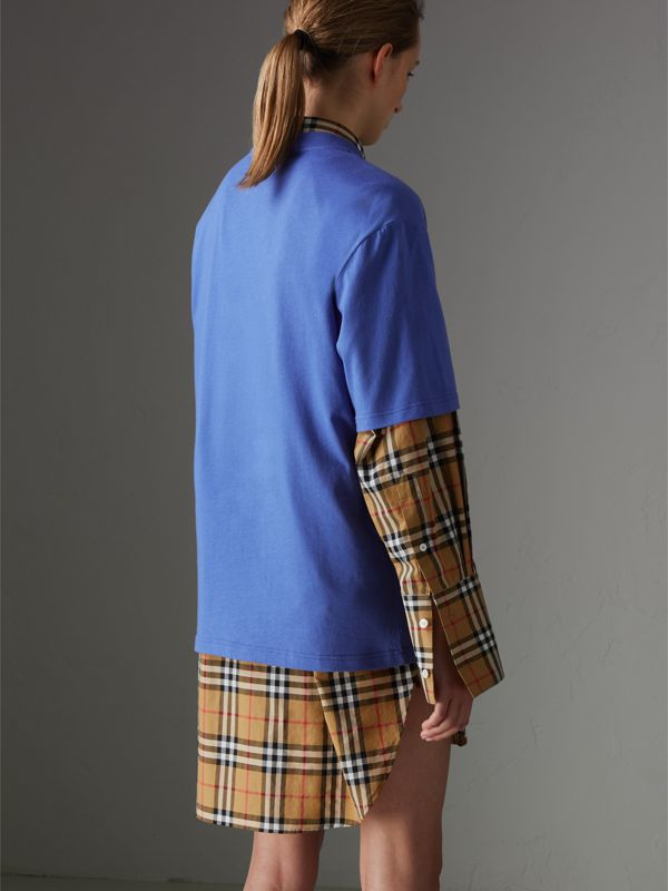 Reissued Cotton T-shirt in Cornflower Blue - Women | Burberry - cell image 2