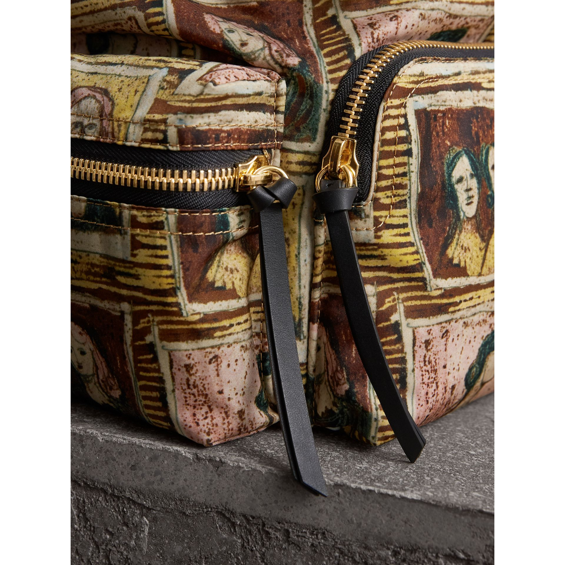 The Medium Rucksack in Framed Heads Print in Umber Brown - Women | Burberry - gallery image 6