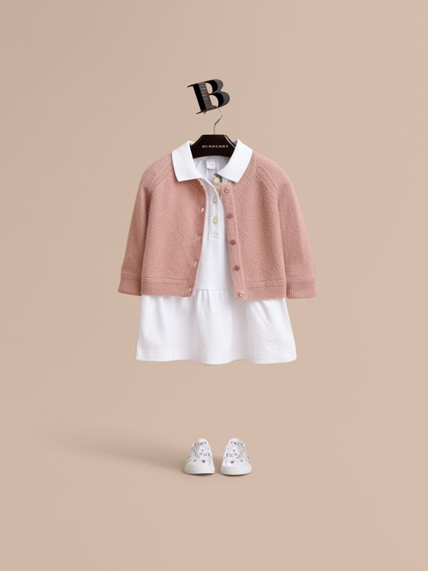 Textured Knit Cashmere Cardigan in Dusty Pink | Burberry United Kingdom - cell image 2