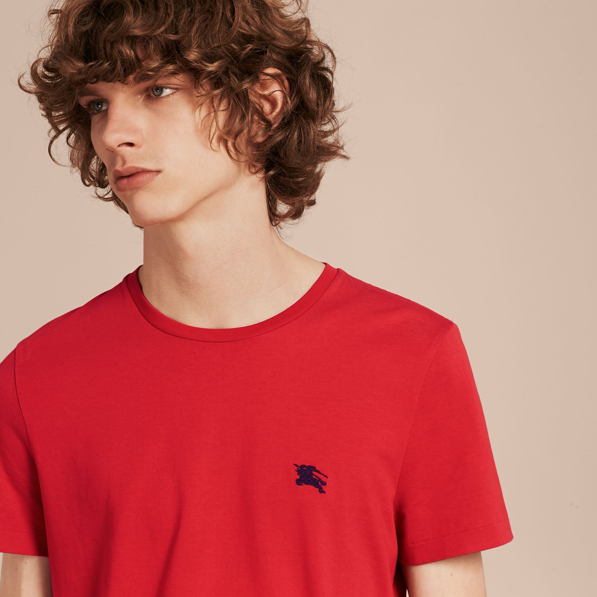 Military red Liquid-soft Cotton T-Shirt Military Red - gallery image 5