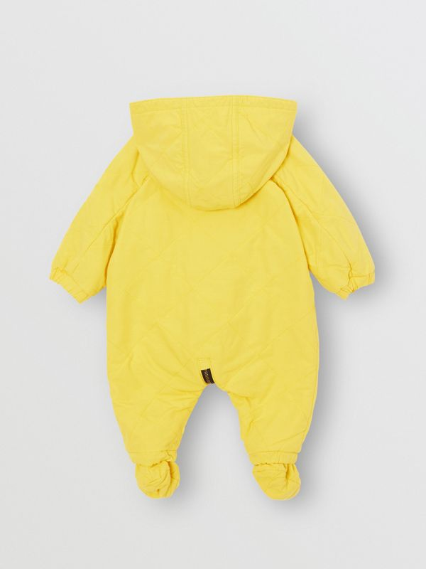 Diamond Quilted Cotton All-in-One in Yellow Citrine - Children | Burberry Australia - cell image 3