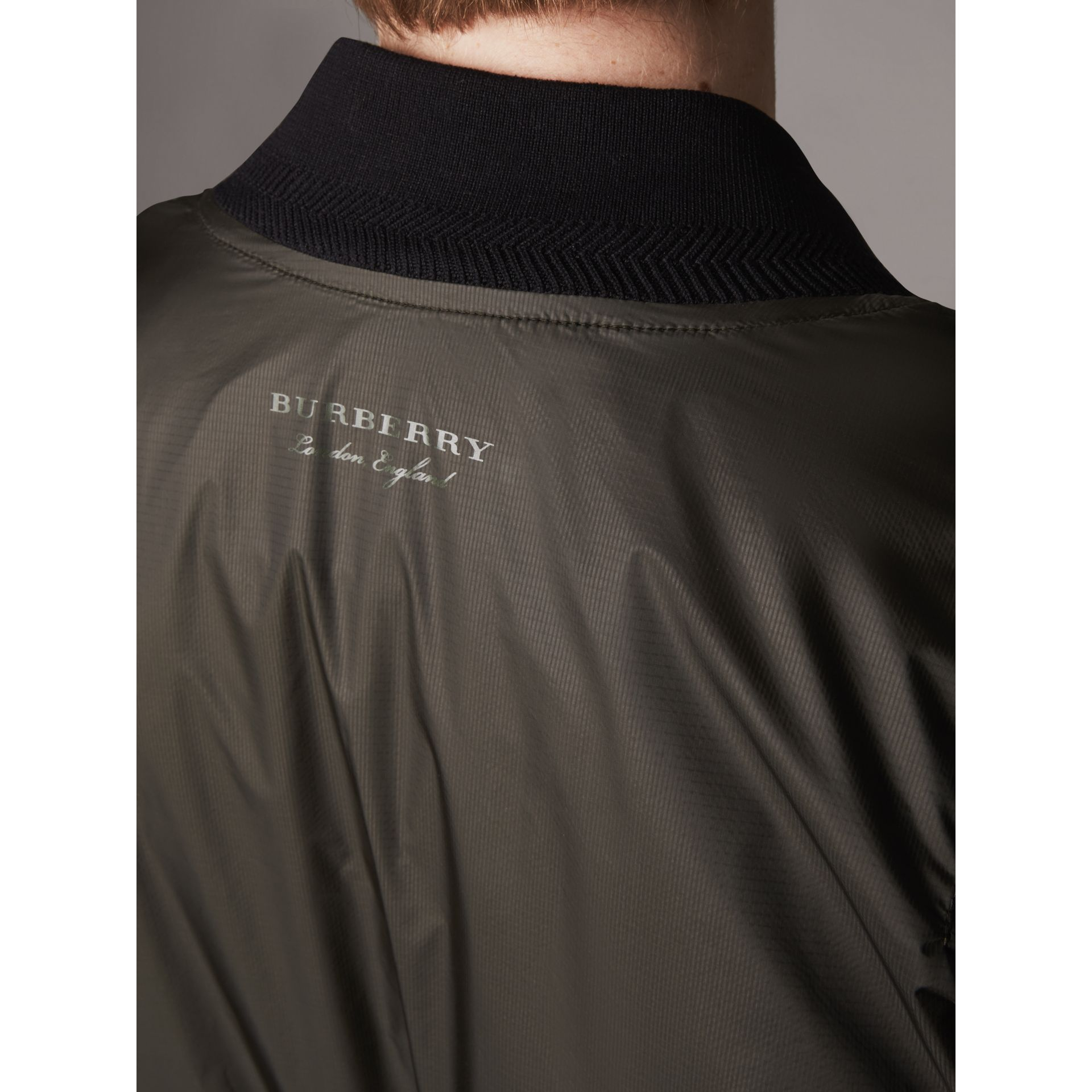 Lightweight Bomber Jacket in Dark Olive - Men | Burberry - gallery image 4
