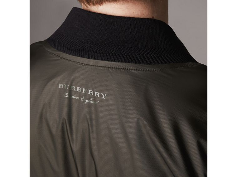 Lightweight Bomber Jacket in Dark Olive - Men | Burberry - cell image 4