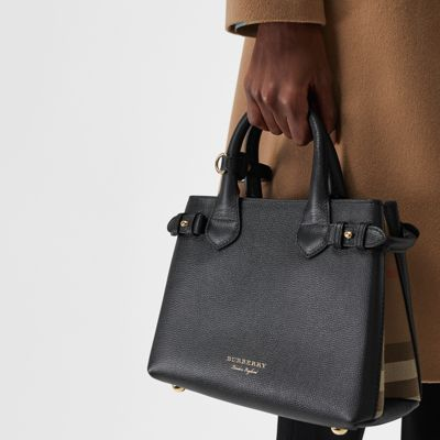 Burberry - Petit sac The Banner en cuir et coton House check - 4