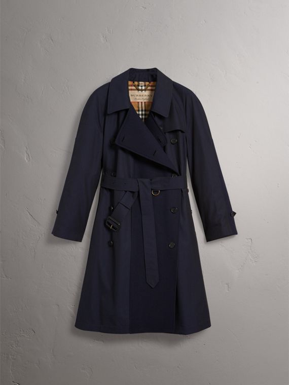 Tropical Gabardine Asymmetric Trench Coat in Blue Carbon - Women | Burberry - cell image 3