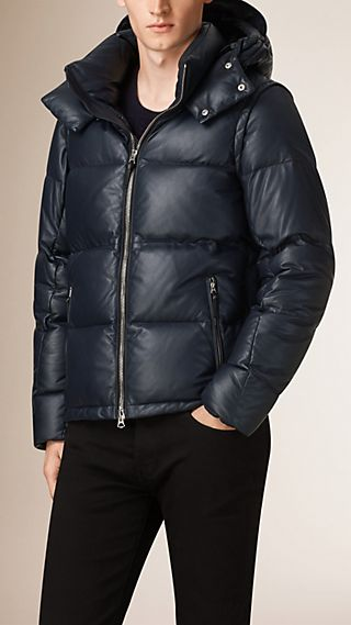 Lambskin Puffer Jacket with Removable Sleeves