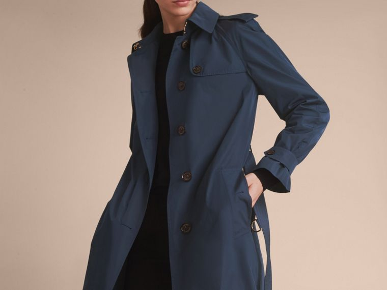 Single-breasted Technical Trench Coat Navy - cell image 4