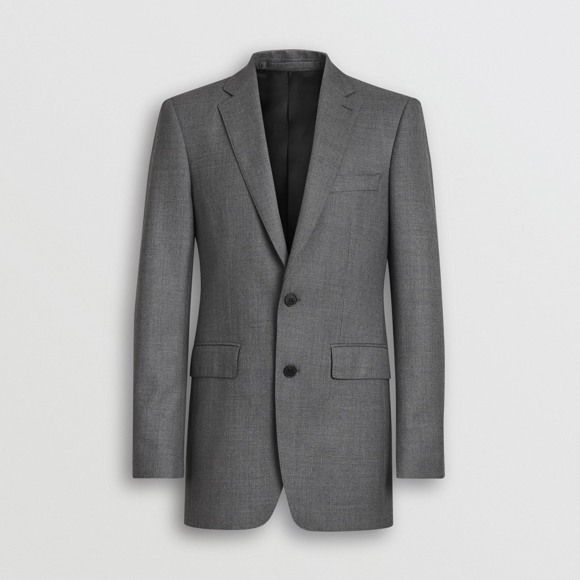Classic Fit Sharkskin Wool Suit in Mid Grey Melange - Men | Burberry United Kingdom - gallery image 3