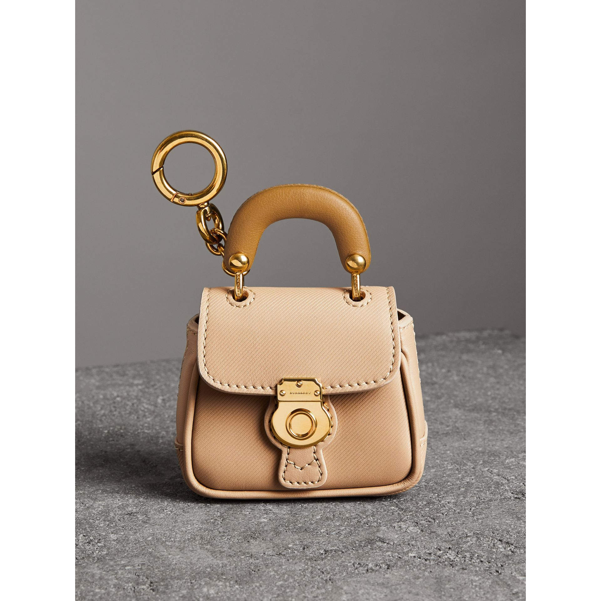 The DK88 Charm in Honey/ochre Yellow | Burberry - gallery image 4