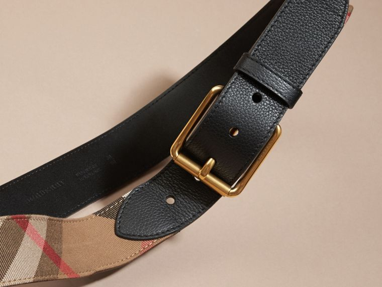 House Check and Leather Belt - Men | Burberry - cell image 2