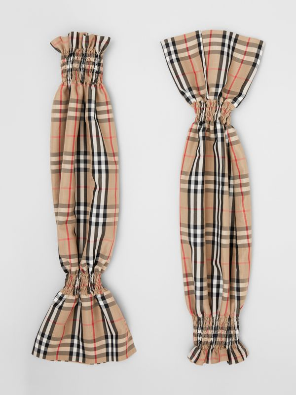 Vintage Check Puff Sleeves in Archive Beige - Women | Burberry Australia - cell image 3