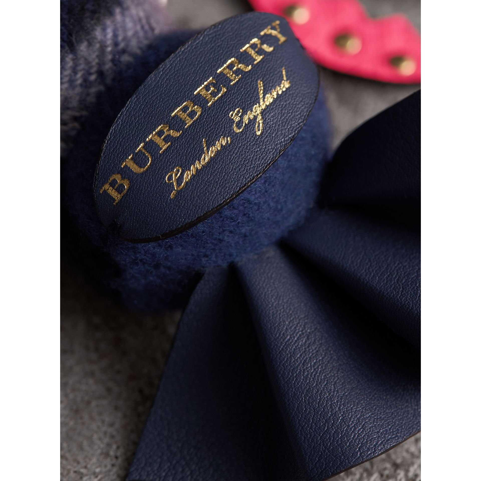 Hugo The Lobster Cashmere Charm in Navy Multicolour | Burberry Australia - gallery image 2
