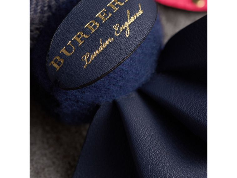 Hugo The Lobster Cashmere Charm in Navy Multicolour | Burberry Australia - cell image 1