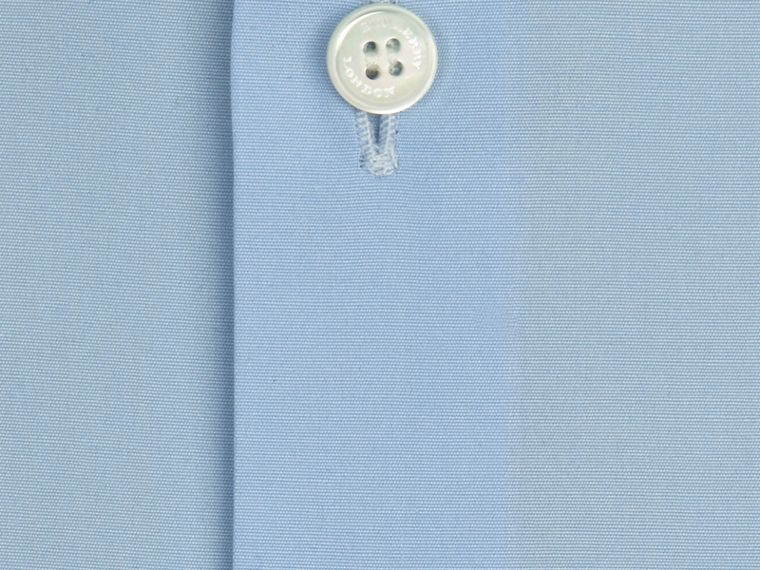 City blue Modern Fit Cotton Poplin Shirt City Blue - cell image 1