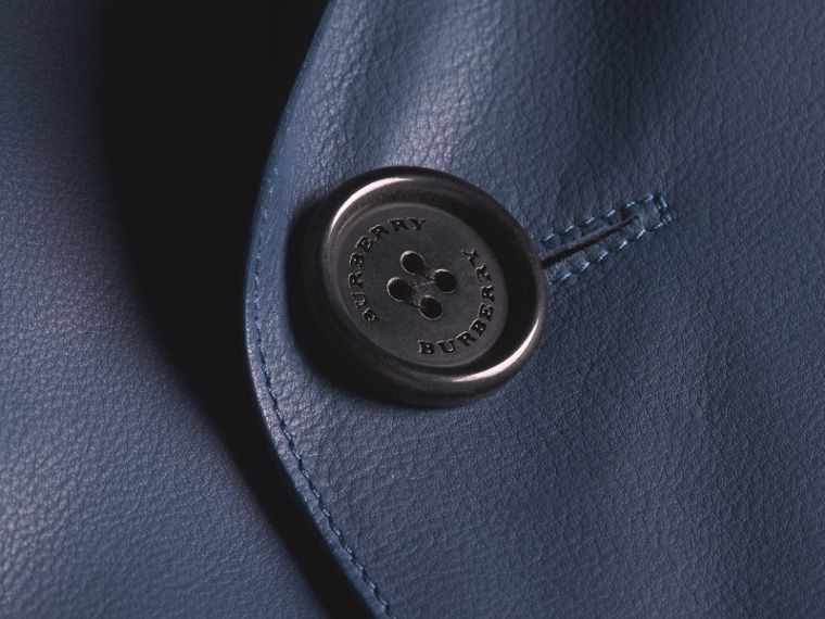 Short Leather Trench Coat - cell image 1