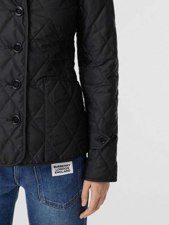 Diamond Quilted Thermoregulated Jacket in Black | Burberry Canada - cell image 1