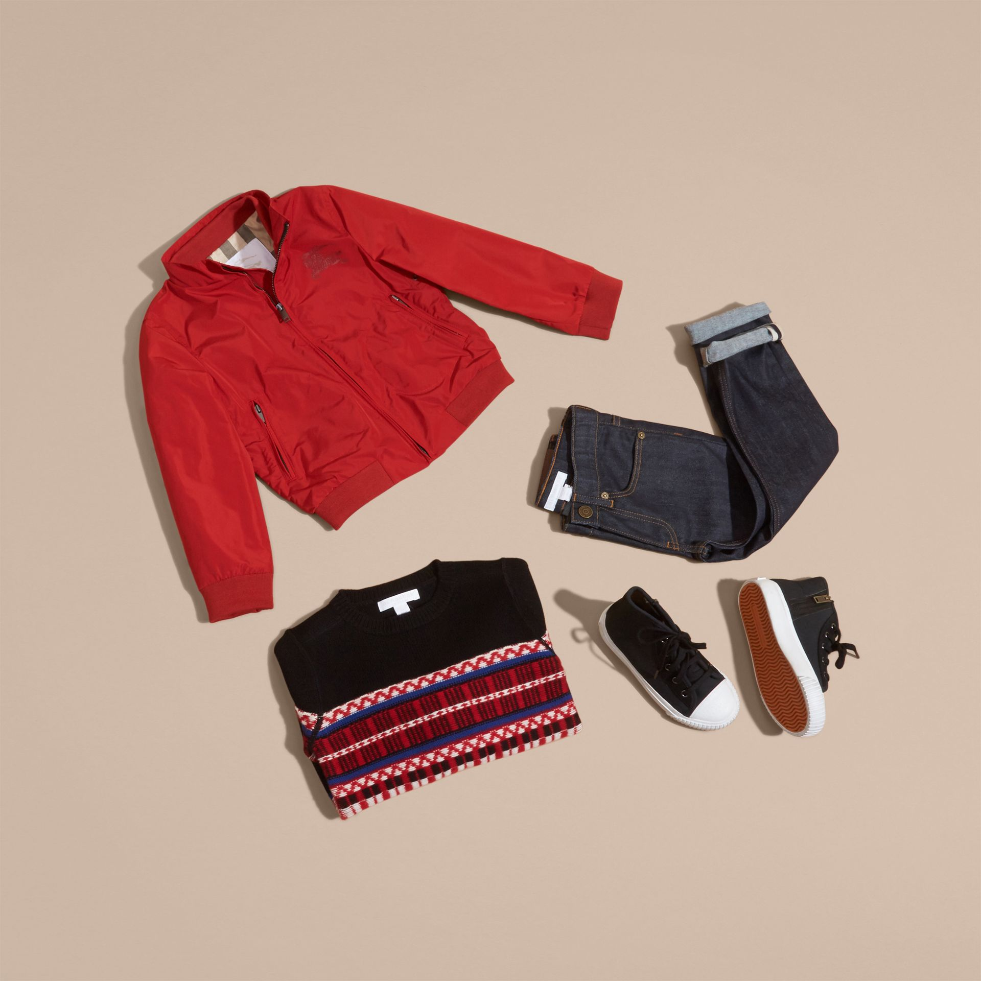 Packaway Blouson in Military Red - Boy | Burberry Australia - gallery image 5