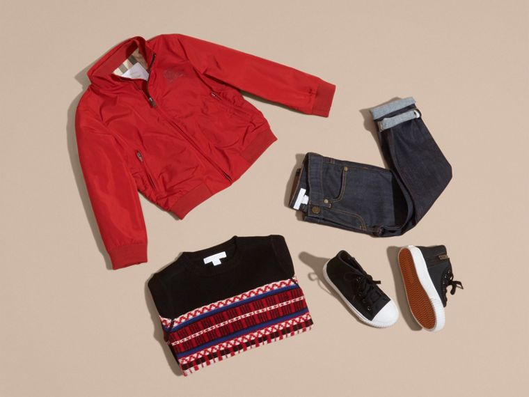 Packaway Blouson in Military Red - Boy | Burberry Australia - cell image 4