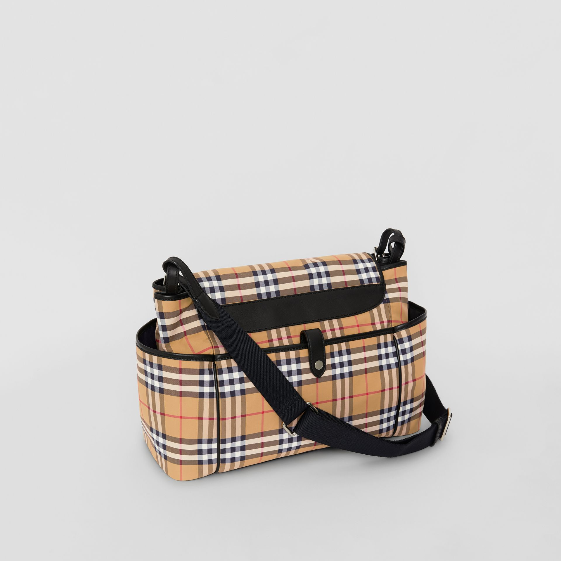 Vintage Check Baby Changing Shoulder Bag in Antique Yellow/black - Children | Burberry United Kingdom - gallery image 2