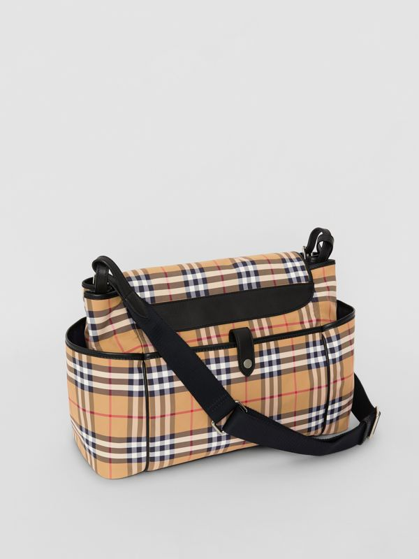 Vintage Check Baby Changing Shoulder Bag in Antique Yellow/black - Children | Burberry - cell image 2