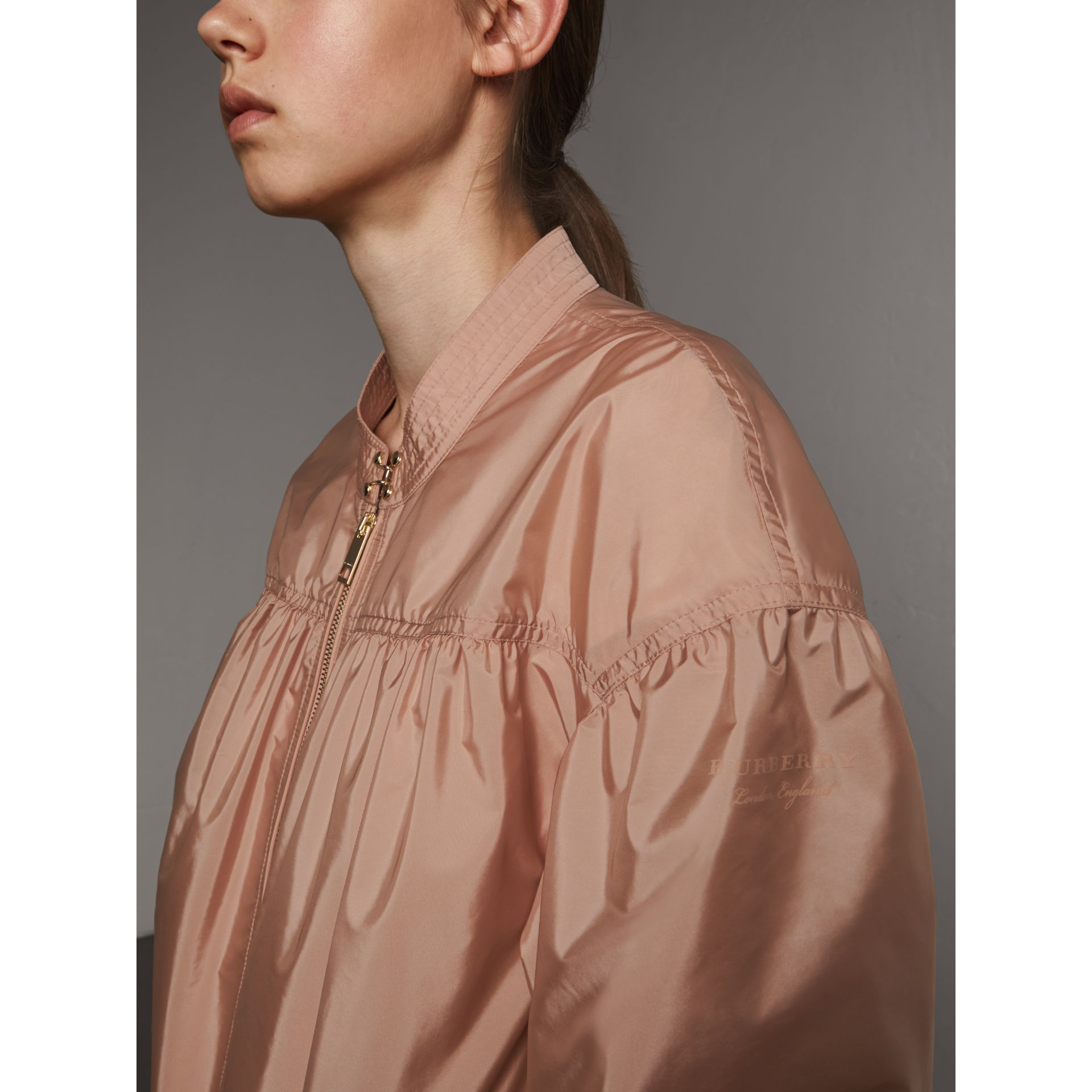 Ruched Showerproof Jacket in Ivory Pink - gallery image 2