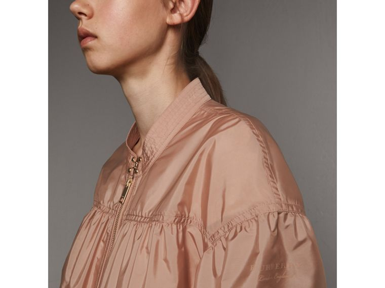 Ruched Showerproof Jacket in Ivory Pink - cell image 1